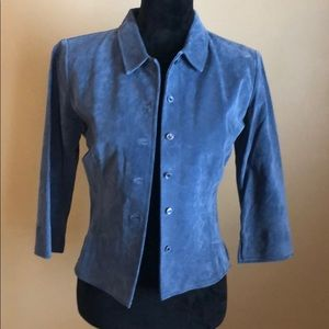 Arden b blue suede jacket